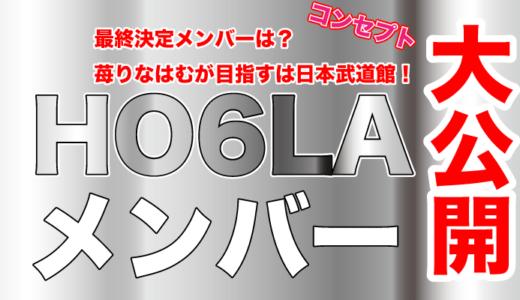 HO6LAの最終決定メンバーは?苺りなはむが目指すは日本武道館!